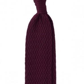 Viola Milano Knitted Tie - Burgundy