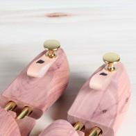 Personalisiertes Lederetikett für Schuhspanner - Schlaufe