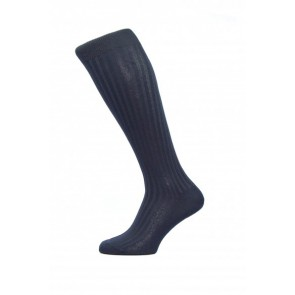 Pantherella Socken OTC - Rippenstruktur Navy