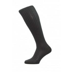 Pantherella Socken OTC - Rippenstruktur Schwarz