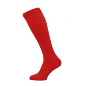 Pantherella Socks OTC - Rippenstruktur Indianer Rot
