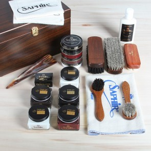 Shoe care valet Walnut Saphir DeLuxe+