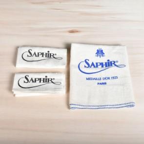Saphir-Applikator & Hochglanztuch - 3er Set